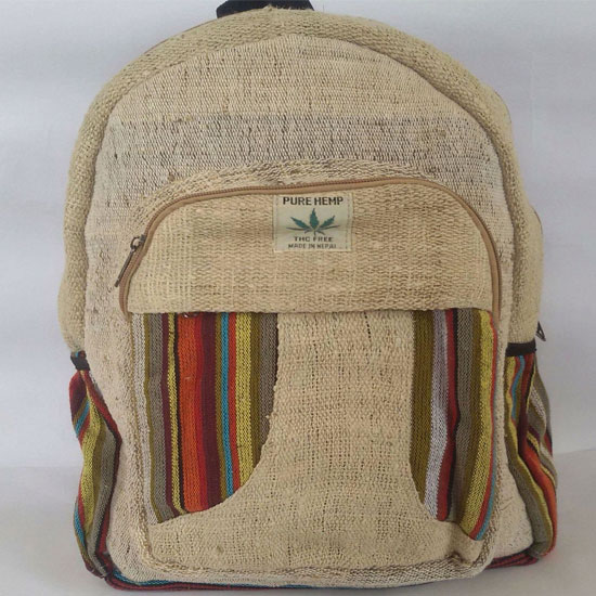 Himalayan 100/% Hemp Bag Unisex Hemp BackPack